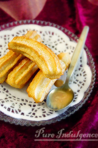Mini Churros with Dulce De Leche Sauce