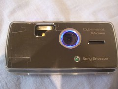 Camera Shutter Open, Anti-Pervert blue ring glows - Sony Ericsson K850i