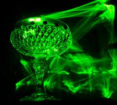 Green Flame (John Hann) Tags: green glass laser groovy laserpointer d60 1855mmf3556gvr flickrlovers johnhann