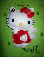 Hello Kitty Red (PrenD-T) Tags: red cat rouge rojo hellokitty explorer kitty felt feltro manualidades fieltro prendt