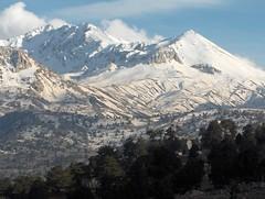 Mountain snow caps