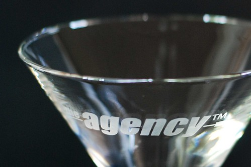 The Agency Logo Martini Glass