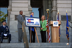 Unveiling of New Colorado Flag Stamp