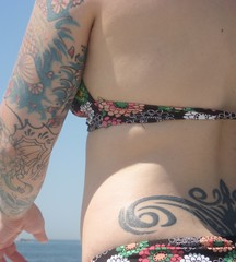 before sunburn (too many bicycles) Tags: summer beach sara rhodeisland