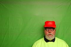 The Wearing of an Orange Hat Before a Green Screen in Toledo (Studio d'Xavier) Tags: werehere orangelovers greenscreen orange green 365 february152017 46365 strobist