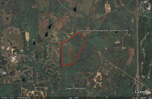 proposed HS site in red (underlying by GE; marking by me)