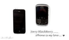 iPhone vs BlackBerry (  || saud alageel) Tags: b black macro canon lens 1 berry phone blackberry 4 shutter mm 500 bb 55 riyadh 250 d500 lense iphone saud 500d 250mm      55250   iphone4  phone4  55250mm    alageel