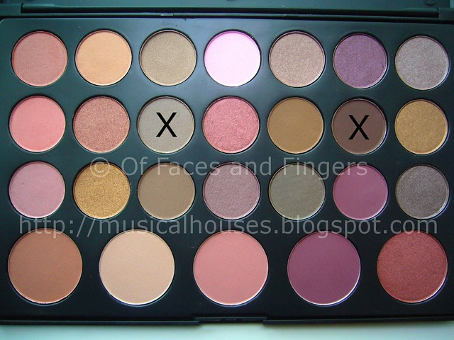 es 26 color eyeshadow blush palette neutral brown eye look