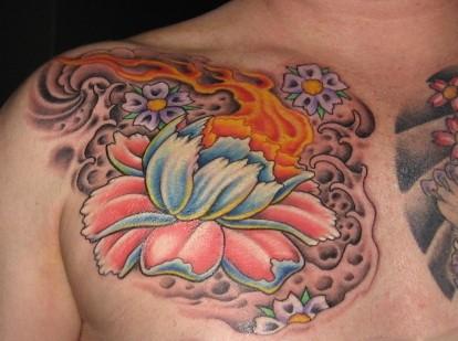 FLower. Peony. Tattoo.