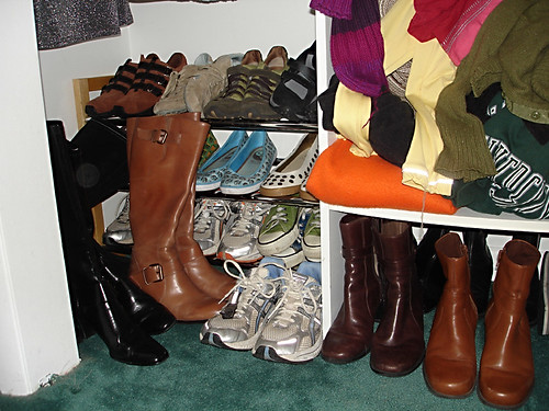 shoe closet - after