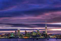 "HDR version of ""In the Pink"" (Light Knight) Tags: longexposure sunset sea newzealand night harbor nightscape image harbour auckland skytower neat hdr photomatix amazingtalent mywinners pentaxk10d platinumphoto aplusphoto hdratnight"