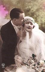 Vintage Postcard ~ Romantic Couple