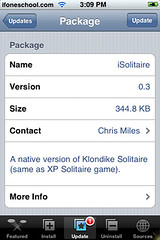 iSolitaire Update 0.3