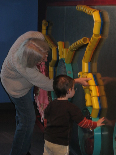 fun with Oma at Science World
