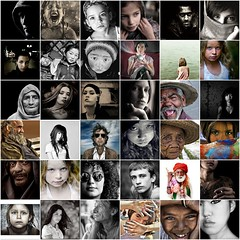 The Flickr Portrait Gallery Hall of Excellence 2007 (III) (Amsterdamned!) Tags: world street light portrait people blackandwhite bw woman selfportrait man black color colour men blancoynegro topf25 face collage kids portraits children kid interestingness interesting mujer eyes women bravo flickr gallery child faces emotion noiretblanc expression retrato mosaic femme selfportraits streetportrait best collection retratos explore portraiture excellent persons multicultura
