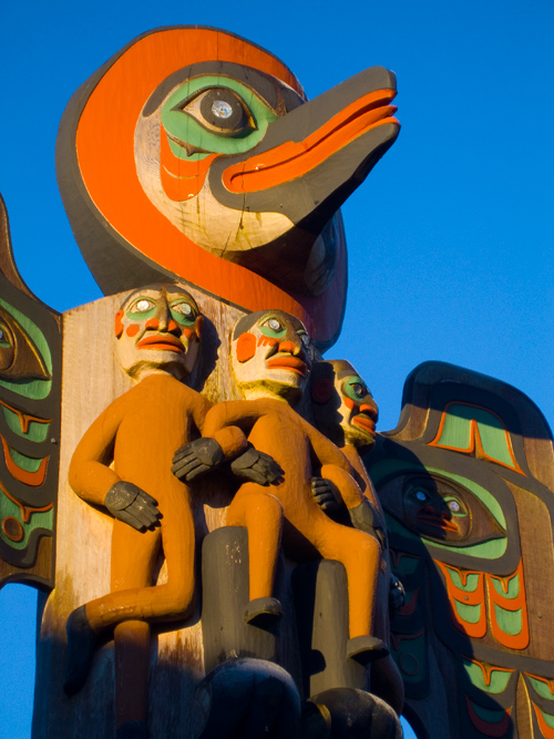 morning totem, Ketchikan, Alaska