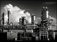 industrial complexity (heavenuphere) Tags: bw cloud industry netherlands contrast high europe industrial factory nederland complexity gi maasvlakte chemical zuidholland southholland lyondell lyondellchemicalcompany lyondellchemienederland lyondellbasell