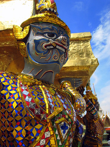 Guardian demon at the Royal Palace, Bangkok