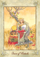 Queen of Pentacles (Llewellyn Worldwide) Tags: cards queen tarot llewellyn arcana fortunetelling newage metaphysical majorarcana divination tarotreading tarotcards pentacles minorarcana tarotspread queenofpentacles llewellyntarot