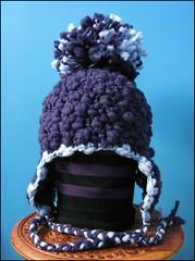 Oversized pompom hat