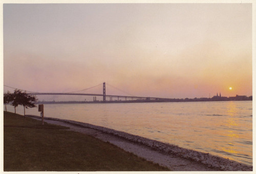 Ambassador Bridge at Sunset, early 1970s