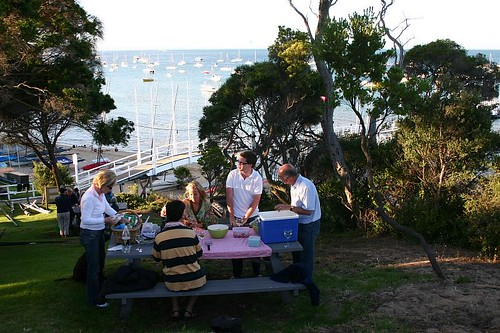 BBQ evening at Sorrento Sailing Club..