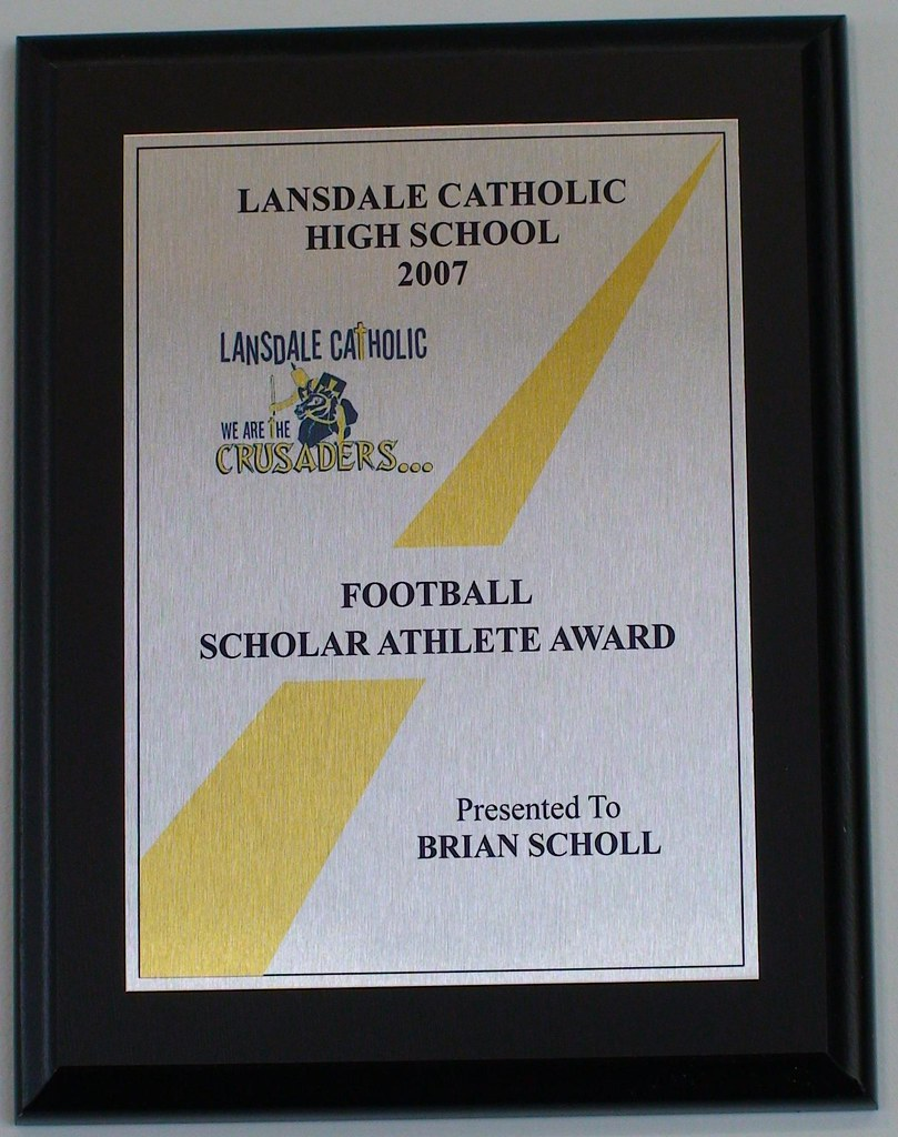 scholar athlete mvp high school plaques and awards