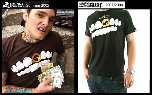 johnny cupcakes design ripped off by billabong