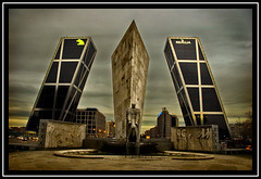 Plaza de Castilla (Ruedaladeras) Tags: madrid plaza espaa towers torres kio castilla plazadecastilla puertadeeuropa ruedaladeras