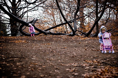 fresh air (mamaloco) Tags: trees sisters messy push brookline muddy hiii funfunfun stroiier grayrainyday realiyneededfreshair