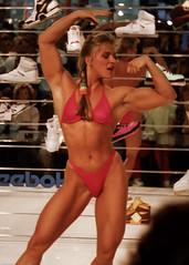 FiBo 1989 - Anja Langer (0015) (Thomas Becker) Tags: show female muscle 1988 posing cologne fair kln bodybuilding fibo 1989 bodybuilder athlete fitness messe langer anja reebok fbb msolympia anjalanger fitnessbodybuilding 03061965