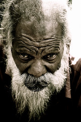 This old man! (Bazstyle | Photography) Tags: portrait face vertical closeup looking gray culture oldman human staring hinduism preparation frontview senioradult totalawesomeness betterthangood theperfectphotographer