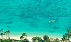 Lanikai Beach (Kanaka Menehune) Tags: beach sailboat island hawaii paradise oahu lanikai lanikairidge