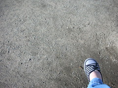 13/365 | let's get some shoes (lesamonster) Tags: portrait selfportrait self foot shoe 365 gravel sockless project365 365days