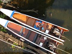 Long tail boats (pezmerised) Tags: bridge river thailand kwai