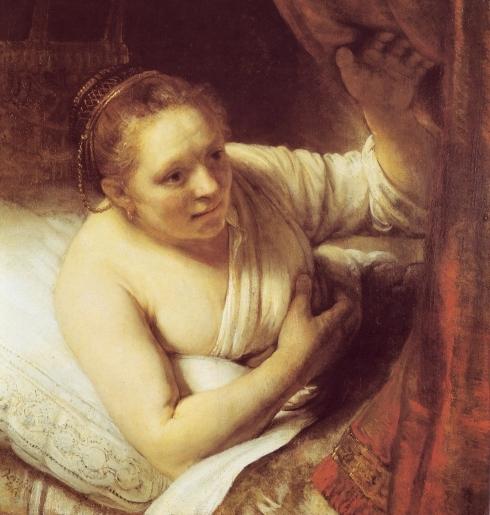 REMBRANDT Harmenszoon van Rijn Hendrickje in Bed c1648