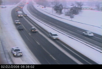 Snow On I-95 at Exit 17 (SB) from ConnDOT Camera
