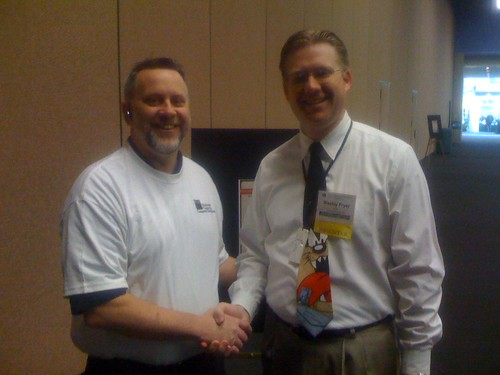 Glenn Malone and Wesley Fryer at NCCE 2008