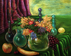 The Banquet (painting and poem) (faith goble) Tags: color art glass fruit painting artist acrylic poem photographer bluegrass kentucky ky vivid canvas creativecommons poet writer banquet tacomaartmuseum bowlinggreenky firsthand bej bowllinggreen colourartaward originalpoem faithgoble poemandpainting grafixer ccbyfaithgoble gographix originalpainitingbyfaithgoble faithgobleart thisisky