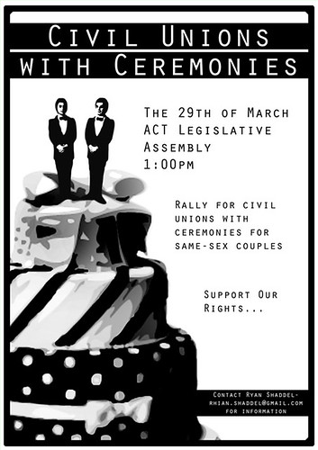 Civil Unions Rally Poster