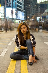 Streets (Dave Roquel) Tags: longexposure people colors d50 asian hongkong streetphotography ppchk daveroquel