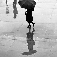 Rainy Days (ro_nya) Tags: rain umbrella streetphotography 500x500 ronya superbmasterpiece 1on1bwphotooftheweek tparain