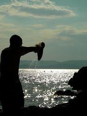 GOCCIE DI MARE (Ost.Scuny) Tags: tramonto mare blu grecia azzurro paesaggi ritratti skiathos divertenti