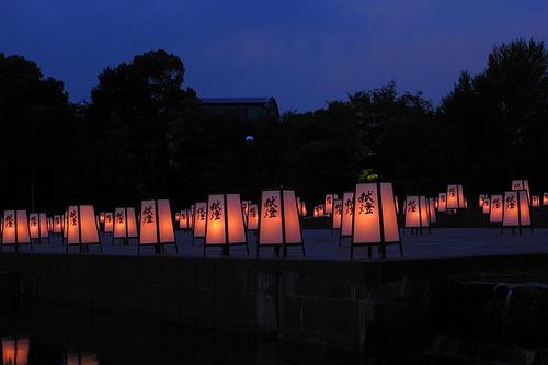 Yakushi-ji exhibition votive candle 01