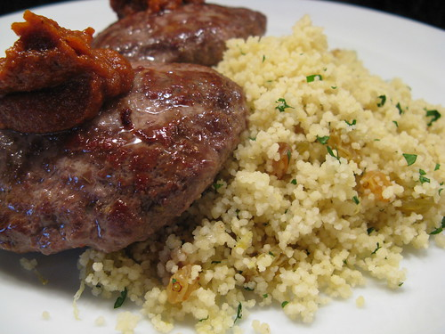 Lamb Patties with couscous