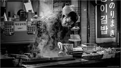 Cooking - Explored Feb. 8, 2017 (Chris Lue Shing) Tags: fujifilmxt10 fujinonlensxf1855mmf284r ōsakashi ōsakafu japan jp dotonbori travel street city crabs food seafood market osaka ©chrislueshing