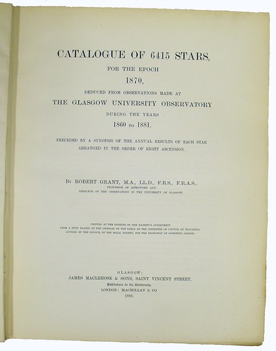 Title Page of 'Catalogue of 6415 Stars...'