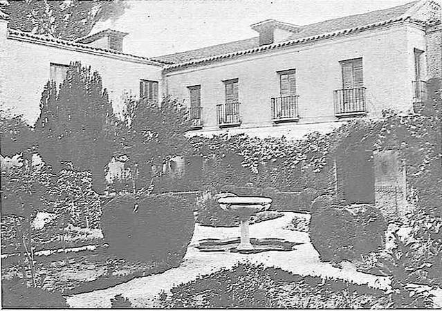 Jardín del Palacio de Buenavista a comienzos del siglo XX. Foto Rodríguez