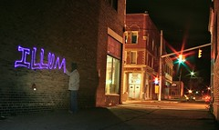 IMG_1491 (illum) Tags: longexposure light ohio art night writing canon graffiti blacklight nophotoshop lightgraffiti newage lightart lorain lightwriting drawingwithlight illum camerapaintin canonxti illumlight