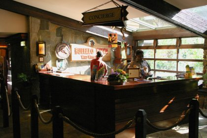 Empfang im Hotel Sequoia Lodge